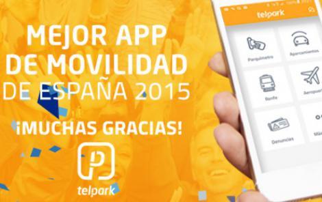 Telpark elegida como mejor App de movilidad de España 2015